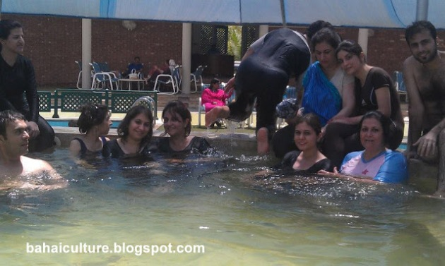 Pakistani Baha'i Community in Swimming Pool