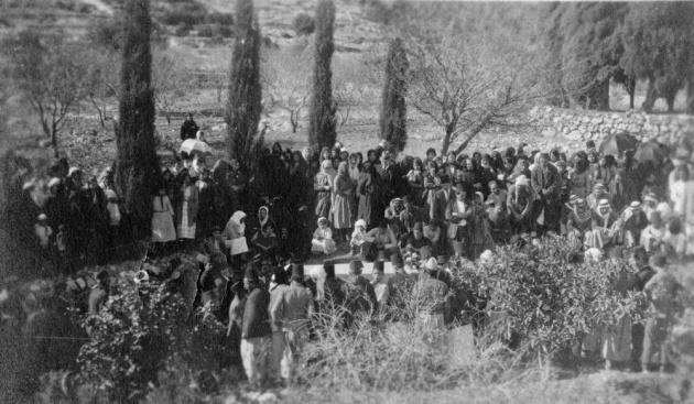 Casket of Abdu'l-Baha Mount Carmel (Funeral)